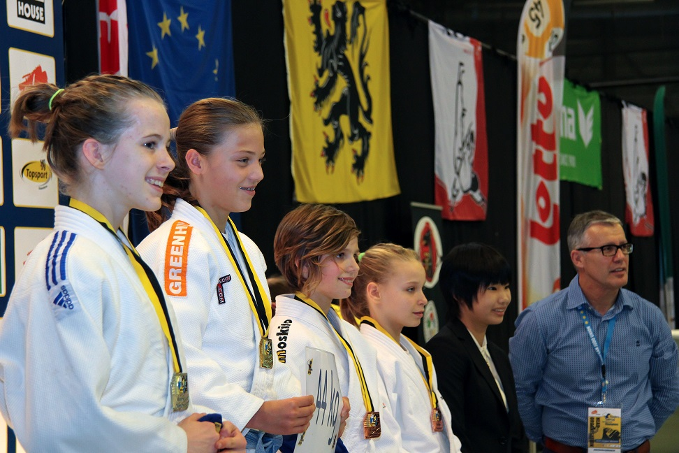 "Misato with her ""Judo Family"" in Lommel"